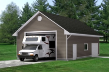 Selecting the appropriate garage door size for an RV or SUV